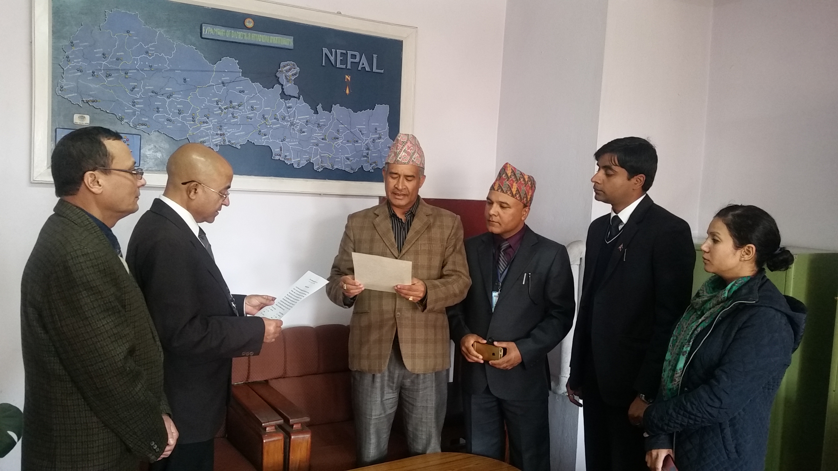 Swearing in program of newly elected Chairperson Mr. Kapil Neupane